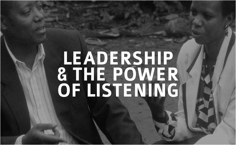Why leading means listening?