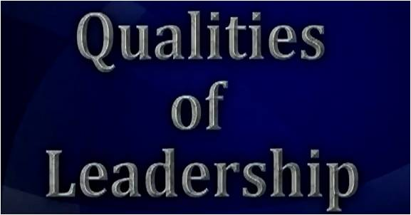 Qualities of  a  Non- Leader
