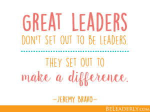 2020 Leader -Making a difference